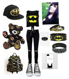 """""""NA NA NA NA NA Batman!"""" by darknesssinmymind ❤ liked on Polyvore featuring Converse and Victoria's Secret"""