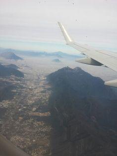 Monterrey desde el cielo.