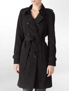 Calvin Klein Black Trench Coat.