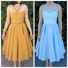 Jenny? 1950s dress / 50s dress/ pinup dress / full skirt / midi dress / retro dress / circle skirt