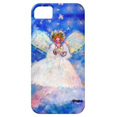 Serene Angel Whimsical Designer Art iPhone 5/5S Case Exquisitely gorgeous, you will LOVE our decorative Stunning Whimsical Designer Art Flower iPhone Cases featuring a stunning color palette inspired by the lush gardens of the English Country side. The PERFECT GIFT! Our Magnificent Whimsical Designer Art Floral iPhone Cases are designed by artist Marie Jose Pappas of Innocent Originals.