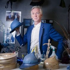 Philip Treacy posing