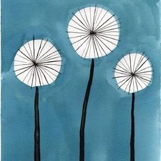 Image result for painting simple dandelions