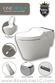 ONEDROUS: The Royal Line Integrated Toilet & Bidet