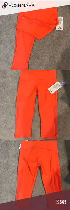 Lululemon Sun Runner Crop NWT/8 CAPE Lululemon Sun Runner Crop NWT/8 CAPE CORALish ORANGE COLOR ✅ALWAYS OPEN TO OFFERS-unless marked firm on price ✅OFFERS SHOULD BE MADE THROUGH POSH OFFER FEATURE ✅PRICES NOT DISCUSSED IN COMMENTS  ✅FEEL FREE TO ASK ANY QUESTIONS  ✅Photos from the Internet could vary slightly from the item that is being shipped  ❎NO TRADES lululemon athletica Pants Ankle & Cropped