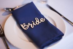 Fashion trend navy blue serviettes. Wedding Receptions, Real Weddings, Navy Blue, Marriage, Mariage, Wedding, Casamento