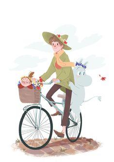 Or just avril or gaël (Posts tagged snufkin) Cute Little Things, Little My, Pretty Art, Cute Art, Moomin Valley, Cartoon Shows, Art Tutorials, Troll, Nerd