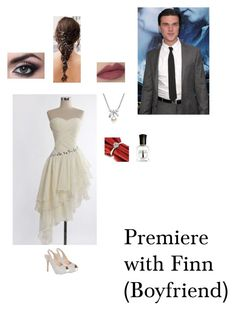 """Premiere with Finn (Boyfriend)"" by nerdbucket ❤ liked on Polyvore featuring Lauren Lorraine, MBLife.com, Deborah Lippmann, women's clothing, women, female, woman, misses, juniors and americanhorrorstory"