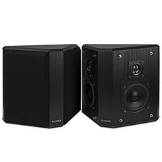 Fluance Home Theater Bipolar Surround Sound Satellite Speakers, Black Home Audio Speakers, Satellite Speakers, Surround Sound Speakers, Surround Sound Systems, Whole Home Audio, Portable Projector Screen, Technology Gifts, Heart Pump, Speaker Design