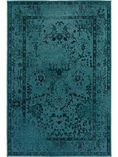 Really like this color. Kuma Rug, Turquoise #landgwishlist @luluandgeorgia