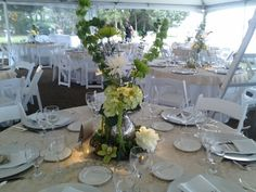 Mercury glass centerpieces ...with Daevids of Norfolk