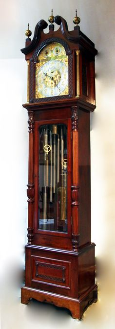 Gothic Style Grandfather Clock M S Rau Antiques