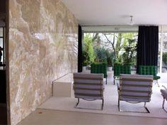 onyx wall. Modern furnishings.