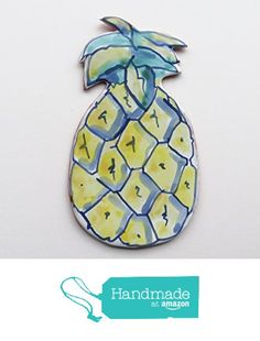 Pineapple Spoon Rest in Majolica Ceramic from Cosmic Mermaid http://www.amazon.com/dp/B019CVTM2O/ref=hnd_sw_r_pi_dp_6TGCwb1Q3SW3G #handmadeatamazon