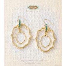Double Cartouche Earrings (Turquoise)