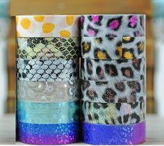 15mm*8M Gold Foil Printing Animal Leopard Print Japanese Washi Tape Decorative Adhesive Masking Paper Tape DIY Gift Packing #Affiliate