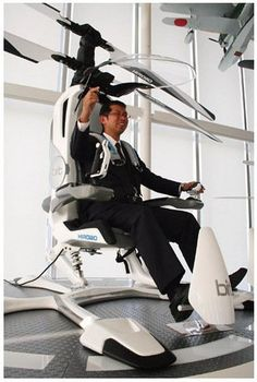 ★☯★Hirobo Japanese #Aircraft company developing personal #electric #helicopter ★☯★  Called HX-1, Hirobo's helicopter can hoist a single person into the air at speeds of over 60 mph for up to 30 minutes at a stretch. It's completely electric, which makes it quiet. Not a lot bigger, but just big enough to carry you to work and back every day in a one-seater coaxial microhelicopter; no need a pilot's license to fly it #WTF #OMG #weird #bizarre #Goodies #Strange #Odd #Funny #Fun #amazing