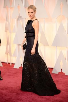 Sienna Miller, in Oscar de la Renta, with Forevermark jewels. The 2015 Academy Awards: All the Pictures From the Red Carpet