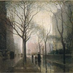 Plaza after the rain, Paul Cornoyer. This was always my favorite when I was little. St. Louis art museum.