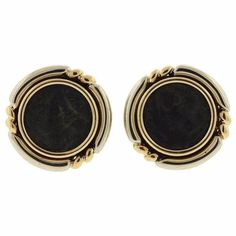 Bulgari Monete Gold Ancient Coin Earrings
