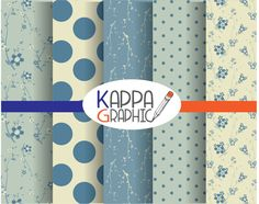 "Digital pattern ""Winter"" paper di KappaGraphic su Etsy"