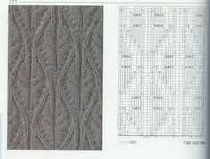 nice beautiful knitting stitches pattern lace aran красивые узоры на спицах click to large
