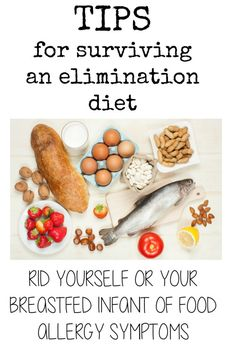 Diet Snacks food allergy elimination diet - Eliminating dairy, soy and other allergens is the first step to ridding your breastfed infant of food allergy symptoms. All my best tips and lessons learned Allergy Free Recipes, Healthy Recipes, Baby Food Recipes, Dairy Recipes, Food Allergy Symptoms, Food Allergies, Asthma Symptoms, Elimination Diet Recipes, Ketogenic Diet