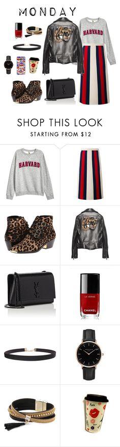 """Monday"" by sabrinabuizza on Polyvore featuring mode, H&M, Gucci, Michael Kors, Yves Saint Laurent, Chanel, Humble Chic, Topshop, Simons et Casetify"