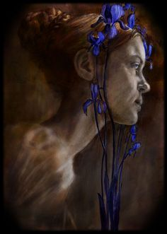 irises by BeatrizMartinVidal on DeviantArt