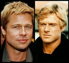Image gallery for : young robert redford brad pitt