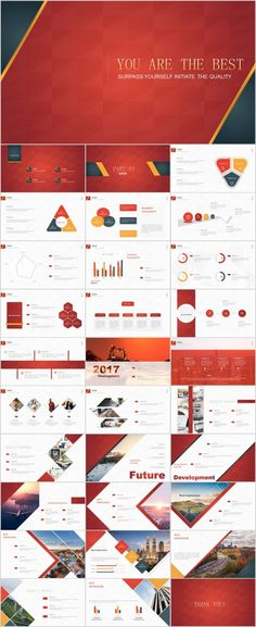 31+ Best Red Business PowerPoint templates
