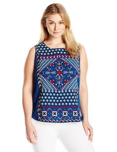 Lucky Brand Women's Plus Size S'slv Tee W/ Embroidery -- New and awesome product awaits you, Read it now  : Plus size shirts