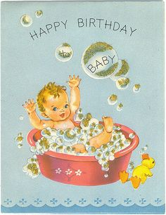 Vintage greeting card baby vintage greeting cards baby cards happy birthday baby vintage birthday cards bookmarktalkfo Image collections
