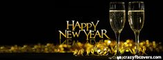 Champagne Glasses Happy New Year Facebook Cover Facebook Timeline Cover