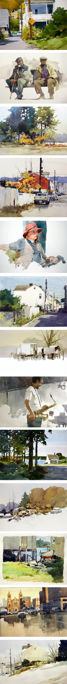 Bill Vrscak, watercolor - To have this talent would be a dream come true.