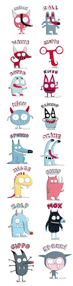 Elise Gravel • monsters • characters • fun • cute • illustration • children • kids • animals • drawing Children's Book Illustration, Character Illustration, Illustration Children, Cute Monster Illustration, Monster Characters, Cute Characters, Monster Drawing, Doodle Monster, Ecole Art