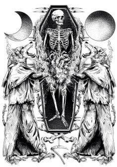 Les illustrations hyper détaillées de Rafal Wechterowicz but with lions Memento Mori, Illustrations, Illustration Art, Creepy, Design Spartan, Occult Art, Desenho Tattoo, Skull And Bones, Horror Art