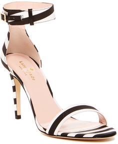 a20935c68b03 kate spade new york Isa Striped Heel Sandal - Sizing  True to size. Open