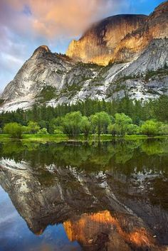Mirror Lake, Yosemite National Park. Beautiful but it only has water in it during the spring.