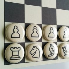 Fridge Magnet Chess: chess game, whiteboard game, board game, chess set, boardgame, fridge magnets, magnetic chess, chess board, laminated by ParchmentMoon on Etsy https://www.etsy.com/listing/238186436/fridge-magnet-chess-chess-game