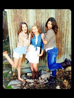 I would be on the left Sierra would be in the middle and hailey would be on the right with boots