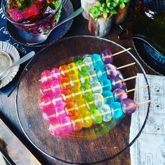Japanese Snacks, Japanese Sweets, Cute Food, Yummy Food, Party Food Platters, Colorful Drinks, Rainbow Food, Asian Desserts, Aesthetic Food