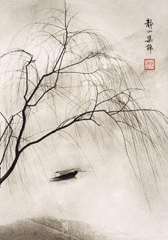 lang jingshan, spring fantasia.  gelatin silver print