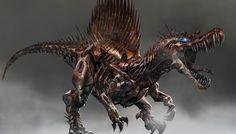 transformers la era de la extincion disenos y concept art de los dinobots
