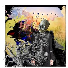 mr bones enjoys the party by diaparsons on Polyvore featuring art