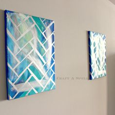 Craft A Spell: DIY Herringbone Canvas Art