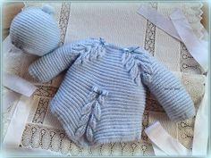 En lana, perlé y angora para bebé: Modelo 31