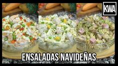 ENSALADAS NAVIDEÑAS 2 - YouTube Canapes, Soups And Stews, Barbecue, Potato Salad, Mango, Food And Drink, Rice, Ethnic Recipes, Christmas