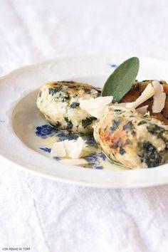 Penne im Topf: Spinat - Ricotta - Knödel mit Salbei - Butter