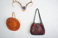 Kilim Leather Bohemian Purse, SOLD WWW.YOKOVINTAGE.COM